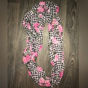 FREE with purchase! Gingham Floral Infinity Scarf